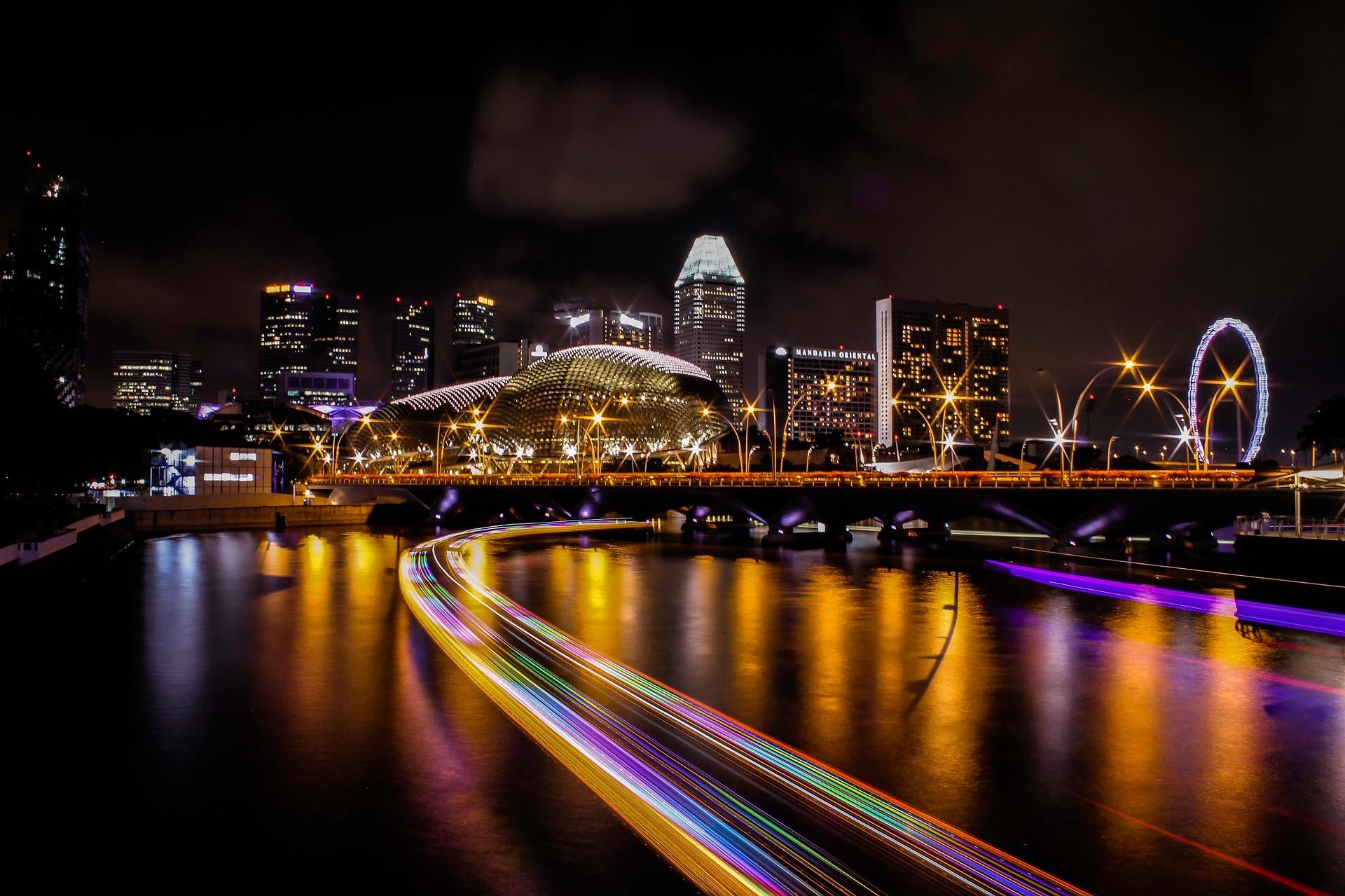 image ville dans la nuit