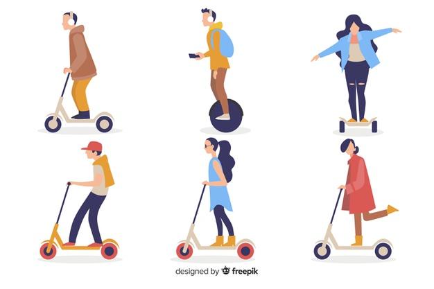 infographie sur les nouveaux transports urbains